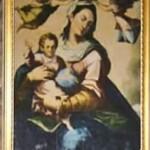 Dettaglio dell'immagine della Madonna della Luce nella cappella sconsacrata della Madonna della Luce in Riviera di Chiaia a Napoli