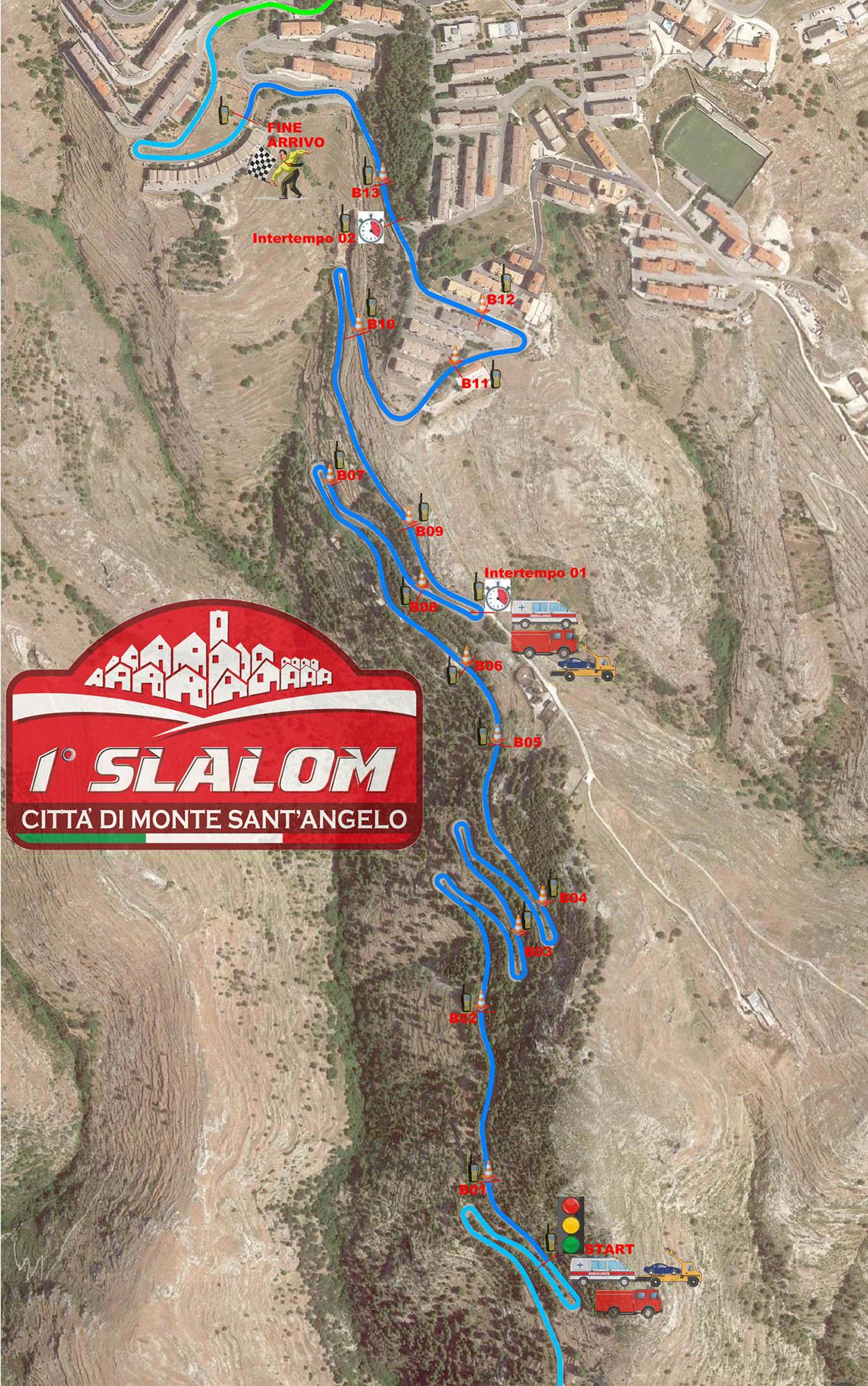 Planimetria 1° slalom Macchia - Monte Sant'Angelo