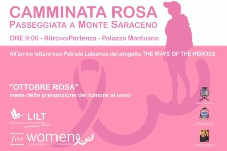 """""""Camminata Rosa"""", passeggiata a Monte Saraceno"""
